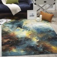 Safavieh Galaxy Blue / Multi Area Rug - 5'3 Square
