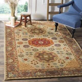 Safavieh Heritage Hand-Woven Wool Beige / Multi Area Rug (6' Square)