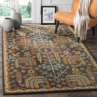 Safavieh Heritage Hand-Woven Wool Charcoal / Multi Area Rug - 6' x 6' Square