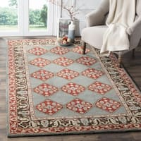 Safavieh Heritage Hand-Woven Wool Blue / Charcoal Area Rug - 6' Square