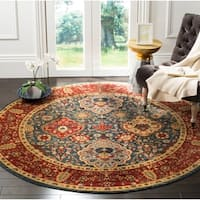 Safavieh Mahal Traditional Grandeur Navy / Red Rug - 6' 7 Round