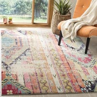 Safavieh Monaco Vintage Bohemian Multicolored Distressed Rug - 4' Square