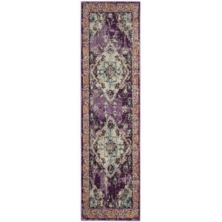 Safavieh Monaco Amelia Boho Medallion Rug (22 x 10 Runner - Violet/Light Blue)