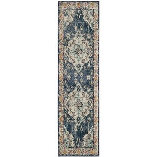 Safavieh Monaco Amelia Boho Medallion Rug (22 x 12 Runner - Navy/Light Blue)