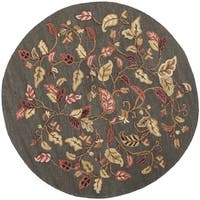 Martha Stewart by Safavieh Autumn Woods Francesca Black Wool/ Viscose Rug - 6' Round