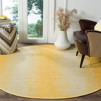 Safavieh Hand-Woven Montauk Flatweave Gold Cotton Rug - 6' Round