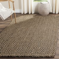 Safavieh Natural Fiber Hand-Woven Jute Natural / Grey Area Rug - 5' x 5' square