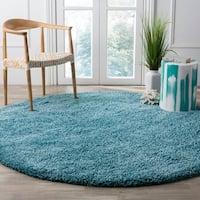 Safavieh California Cozy Plush Turquoise Shag Rug - 6' 7 Round