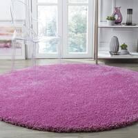 Safavieh Santa Monica Pink Shag Rug - 7' Round