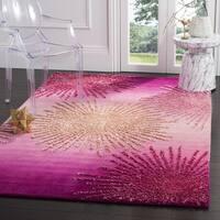 Safavieh SoHo Hand-Woven Wool Pink Area Rug - 6' Square