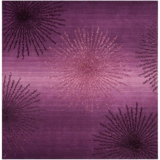 Safavieh SoHo Hand-Woven Wool Purple Area Rug (6' Square)