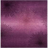 Safavieh SoHo Hand-Woven Wool Purple Area Rug - 6' Square