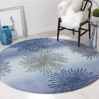 Safavieh SoHo Hand-Woven Wool Denim Area Rug (6' Round)