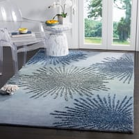 Safavieh SoHo Hand-Woven Wool Denim Area Rug (6' Square)