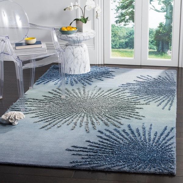 Safavieh SoHo Hand-Woven Wool Denim Area Rug - 6' Square