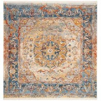 Safavieh Vintage Persian Blue/ Multi Distressed Area Rug - 5' Square