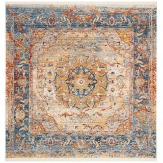 Safavieh Vintage Persian Blue/ Multi Distressed Area Rug (5' Square)