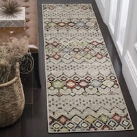 Safavieh Amsterdam Bohemian Light Grey / Multicolored Runner (2' x 8')