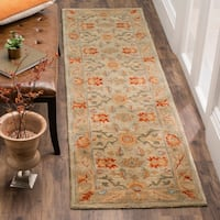 "Safavieh Antiquity Hand-Woven Wool Beige / Multi Area Rug Runner - 2'3"" x 12'"