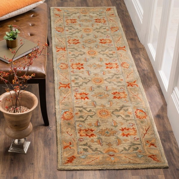 Safavieh Antiquity Hand-Woven Wool Beige / Multi Area Rug Runner - 2'3 x 12'