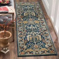 "Safavieh Antiquity Hand-Woven Wool Dark Blue / Multi Area Rug Runner - 2'3"" x 12'"