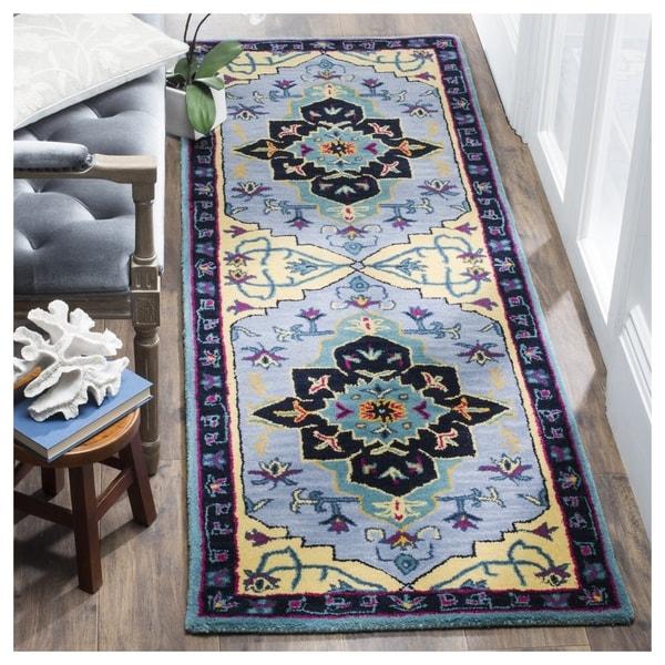 Safavieh Bellagio Hand-Woven Wool Light Blue / Multi Area Rug Runner (2'3 x 7')