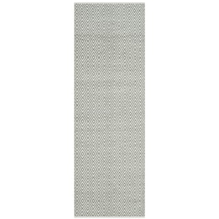 Safavieh Boston Contemporary Grey Cotton Runner (2' 3 x 11')