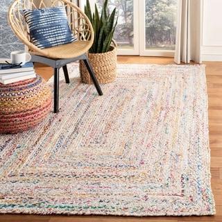 Safavieh Braided Hand-Woven Cotton Red / Multi Area Rug Runner (2'3 x 6')