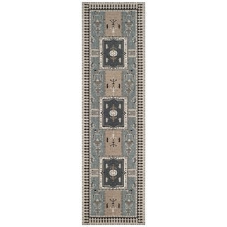 Safavieh Classic Vintage Boho Tomasa Oriental Cotton Rug (23 x 8 Runner - Slate/Beige)