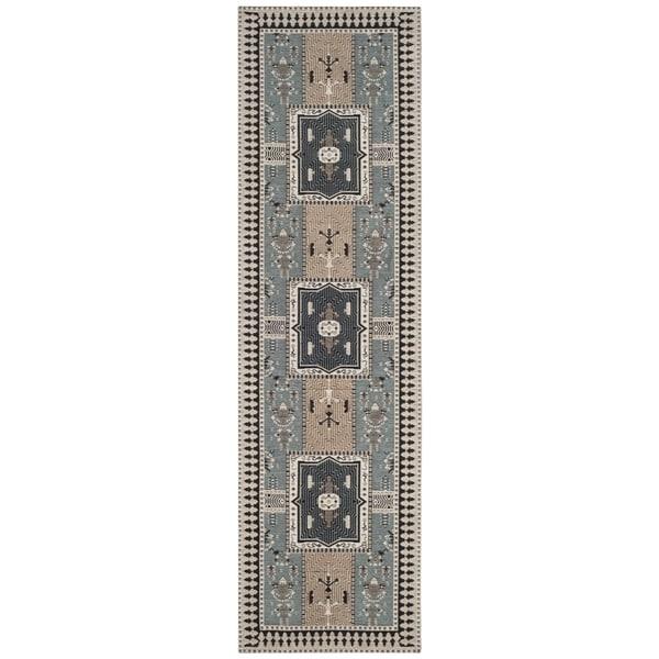 Safavieh Classic Vintage Bohemian Slate/ Beige Cotton Runner (2' 3 x 8')