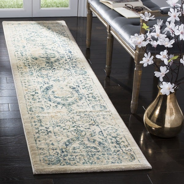 Safavieh Evoke Vintage Oriental Beige/ Turquoise Distressed Runner Rug
