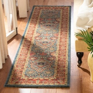 Safavieh Mahal Navy / Red Area Rug Runner - 2'2 x 14'