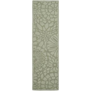 Martha Stewart by Safavieh Full Bloom Pumpkin Seed Wool Runner Rug (2'3 x 8')