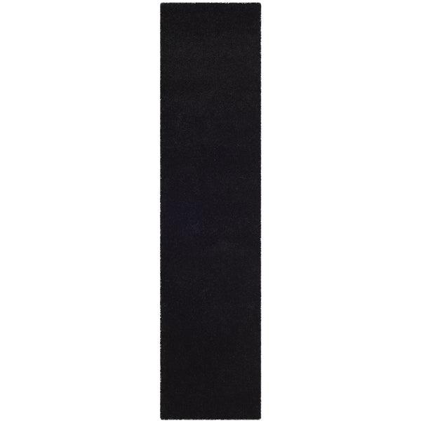 Safavieh Milan Shag Black Runner Rug - 2' x 6'