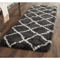 Safavieh Belize Shag Charcoal / Ivory Area Rug Runner - 2'3 x 5'