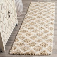 Safavieh Dallas Shag Beige / Ivory Area Rug Runner (2'3 x 10')