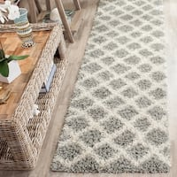 "Safavieh Dallas Shag Grey / Ivory Area Rug Runner - 2'3"" x 10'"