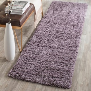 Safavieh Laguna Shag Purple Area Rug Runner (2'3 x 6')