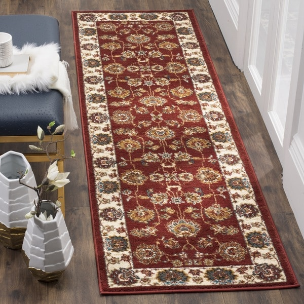 Safavieh Summit Red / Ivory Area Rug Runner (2'3 x 8')