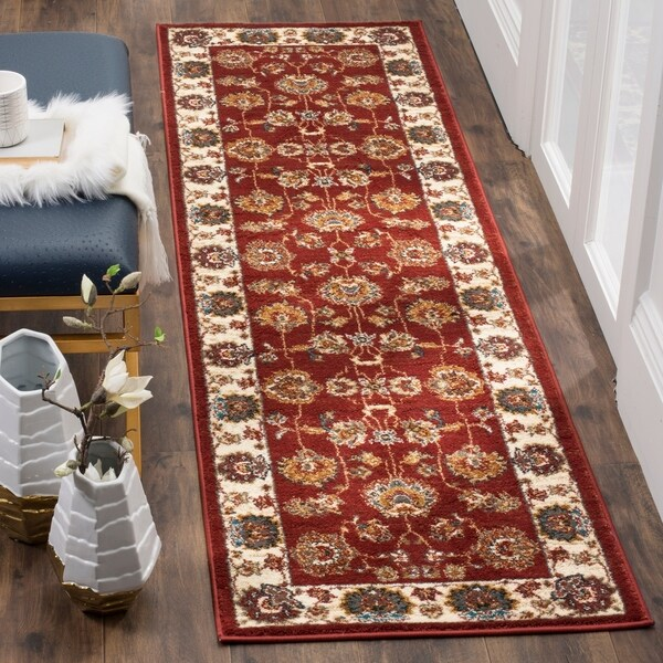 Safavieh Summit Red / Ivory Area Rug Runner - 2'3 x 8'