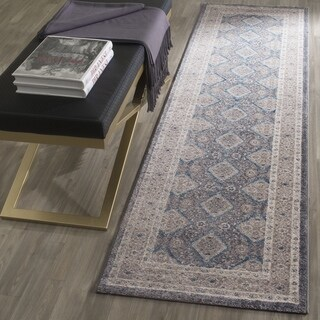 Safavieh Sofia Vintage Diamond Light Grey / Beige Distressed Runner (2'2 x 10')