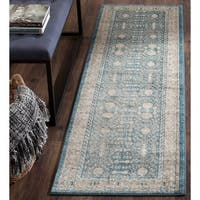 "Safavieh Sofia Vintage Blue/ Beige Distressed Area Rug Runner - 2'2"" x 12'"
