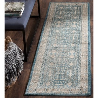 Safavieh Sofia Vintage Blue/ Beige Distressed Area Rug Runner (2'2 x 14')