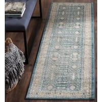 Safavieh Sofia Vintage Blue/ Beige Distressed Area Rug Runner - 2'2 x 14'