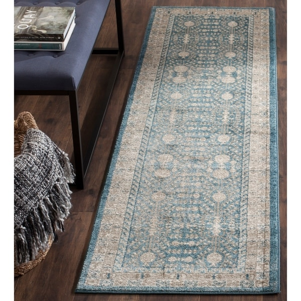 "Safavieh Sofia Vintage Blue/ Beige Distressed Area Rug Runner - 2'2"" x 6'"