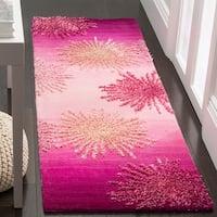 Safavieh SoHo Hand-Woven Wool Pink Area Rug Runner - 2'6 x 8'