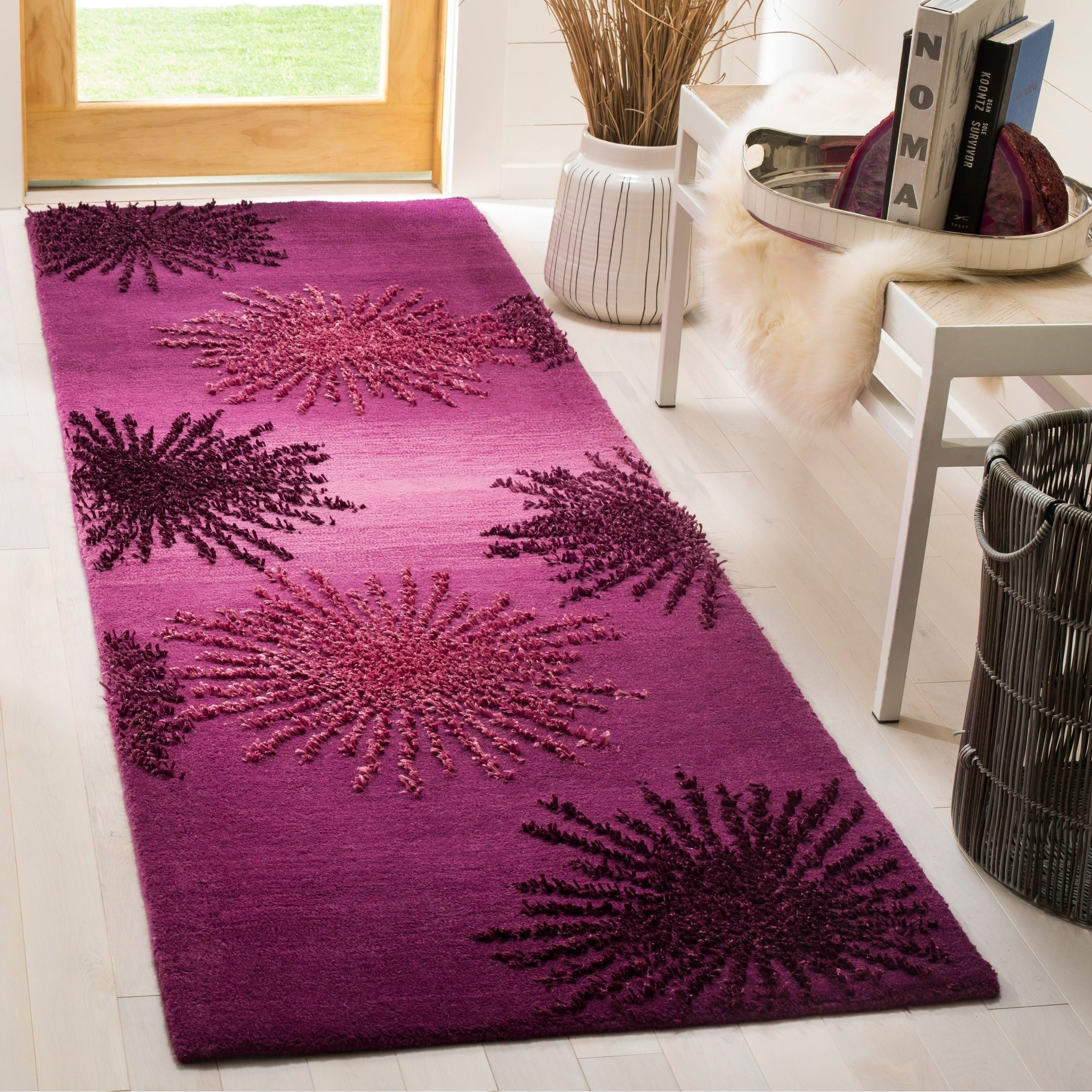 Safavieh SoHo Hand-Woven Wool Purple Area Rug Runner (2'6...