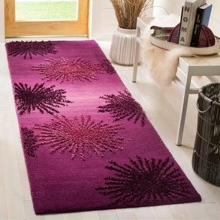 Safavieh SoHo Hand-Woven Wool Purple Area Rug Runner (2'6 x 8')