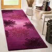 Safavieh SoHo Hand-Woven Wool Purple Area Rug Runner - 2'6 x 8'