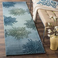 Safavieh SoHo Hand-Woven Wool Denim Area Rug Runner - 2'6 x 8'